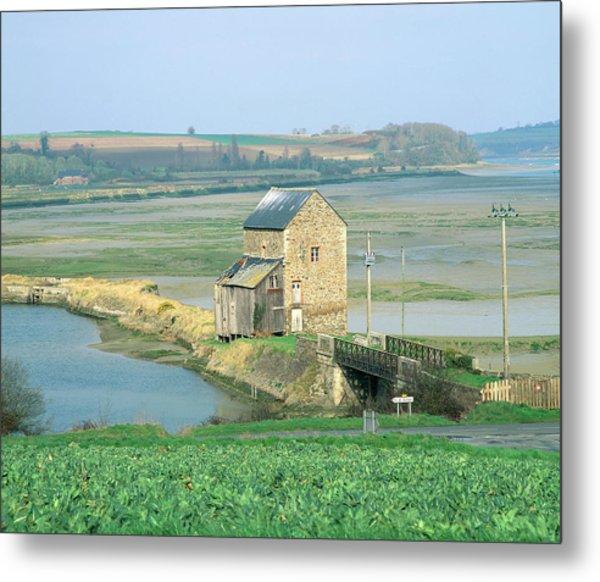 Traditional Tidal Mill On A River Estuary Metal Print