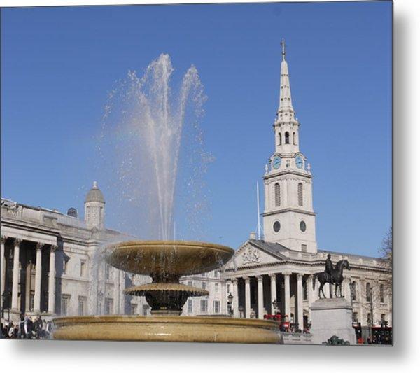 Trafalgar Square Fountain. Metal Print