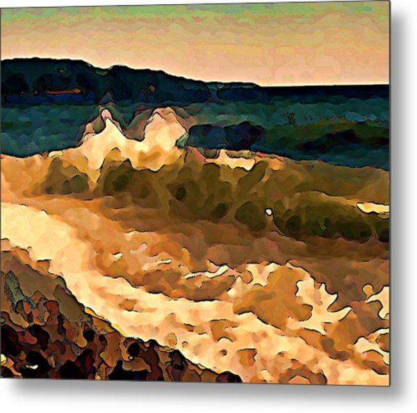 Trail Bay Wave Metal Print