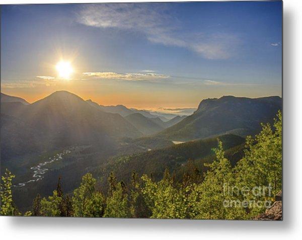 Trail Ridge Road Sunrise Metal Print