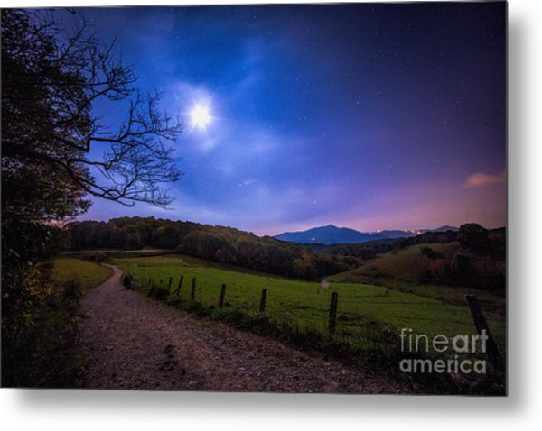 Trails To The Moon Metal Print