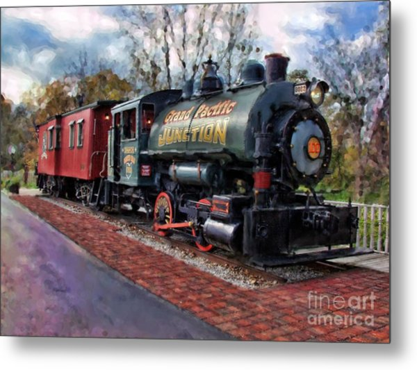 Train At Olmsted Falls - 1 Metal Print