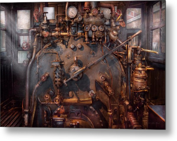 Train - Engine - Hot Under The Collar  Metal Print