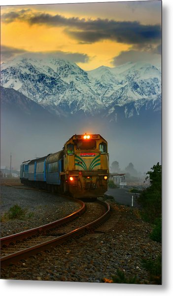 Train In New Zealand Metal Print