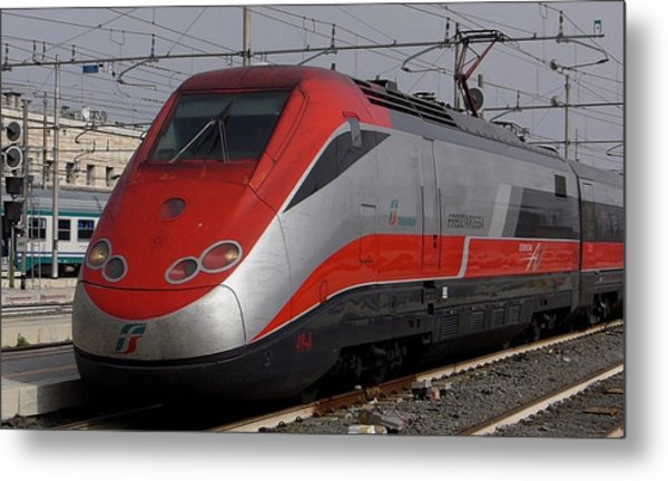 Train Out Of Rome Metal Print