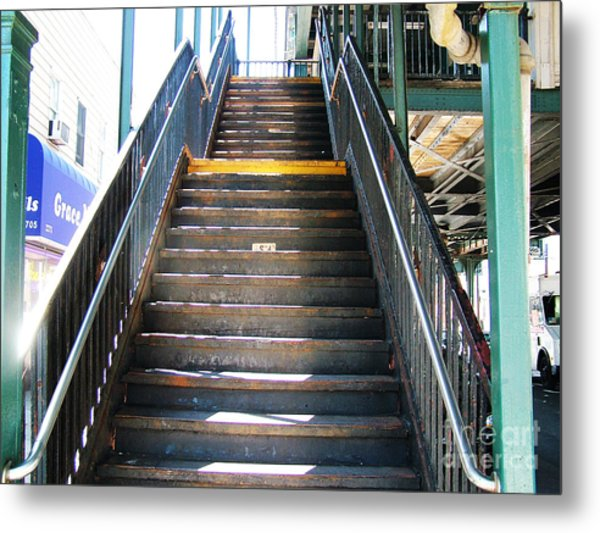 Train Staircase Metal Print