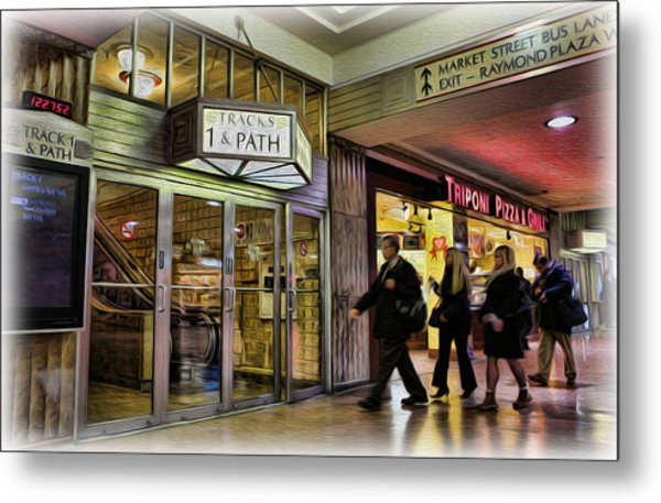 Train Station - Going Home II Metal Print by Lee Dos Santos
