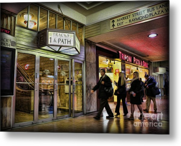 Train Station - Going Home Metal Print by Lee Dos Santos
