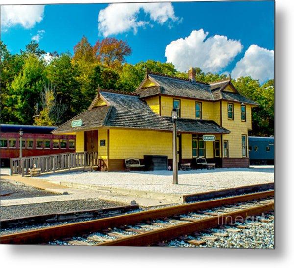 Train Station In Tuckahoe Metal Print