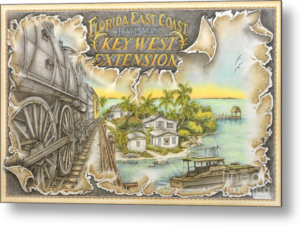 Train To Paradise Metal Print by Mike Williams