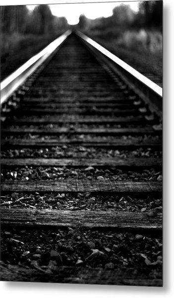Train Tracks Metal Print by Nikki Dunn