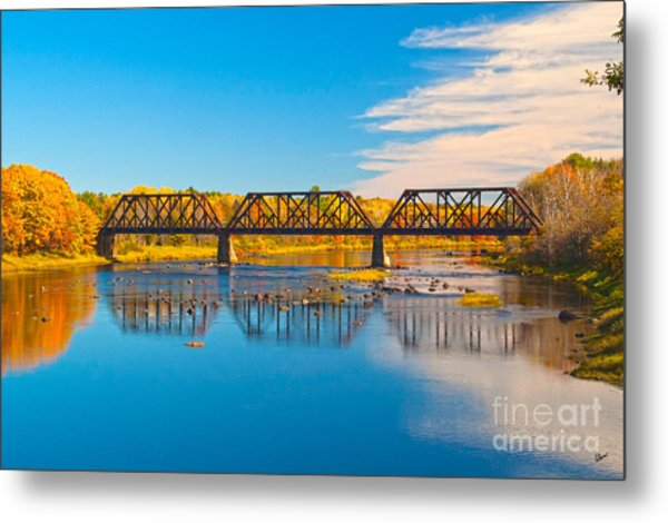 Train Trestle Metal Print
