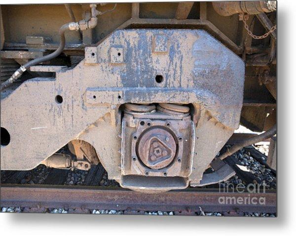 Train Wheel Metal Print by Russell Christie