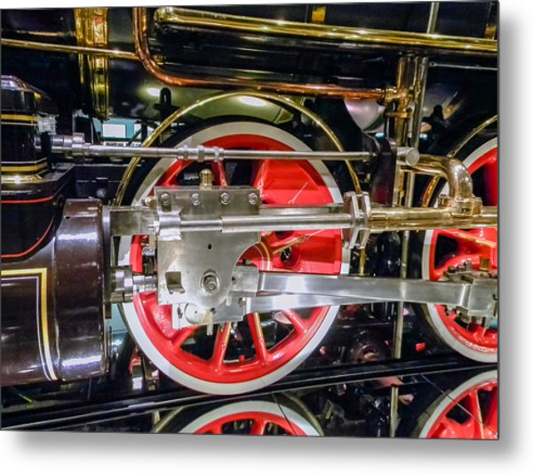 Train Wheels Metal Print