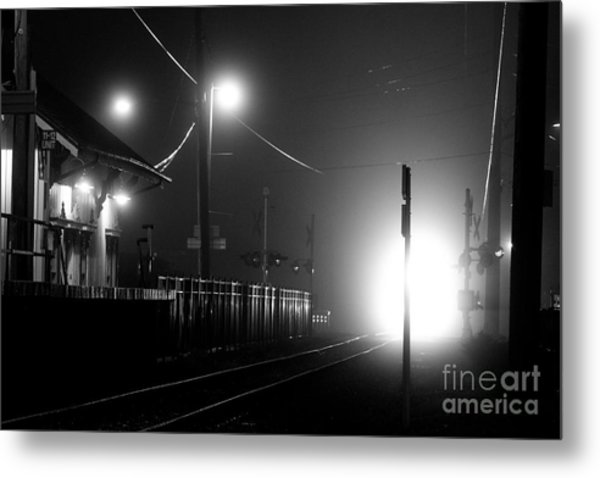 Trains Arriving Metal Print