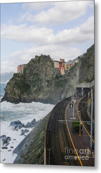 Trainstation In Manarola Italy Metal Print