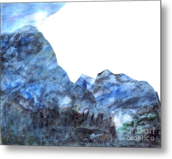 Tranquil Blue Metal Print