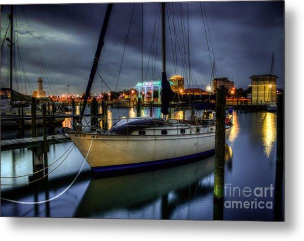Tranquil Harbour Evening Metal Print