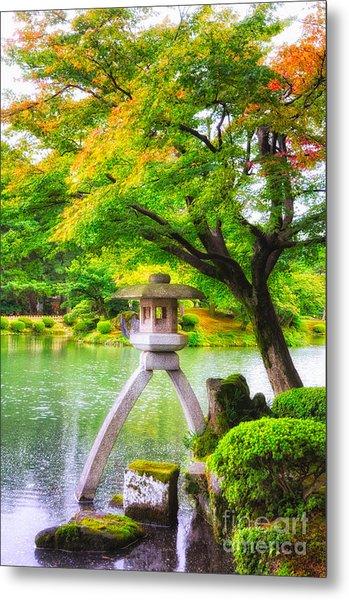 Tranquil Japanese Garden - Kenrokuen - Kanazawa - Japan Metal Print