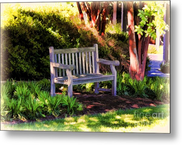 Tranquility In The Park Metal Print