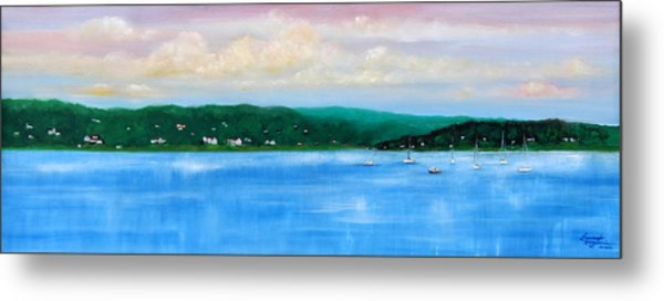Tranquility On The Navesink River Metal Print