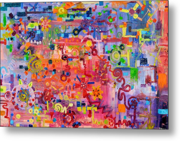 Transition To Chaos Metal Print