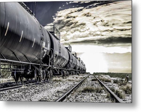 Train And Transient Metal Print by Brian Yasumura Jr