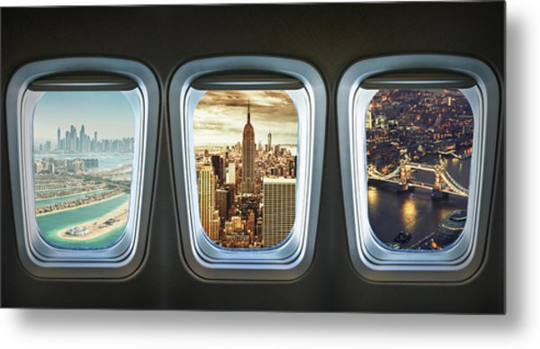 Traveling The World With An Airplane Metal Print by Franckreporter