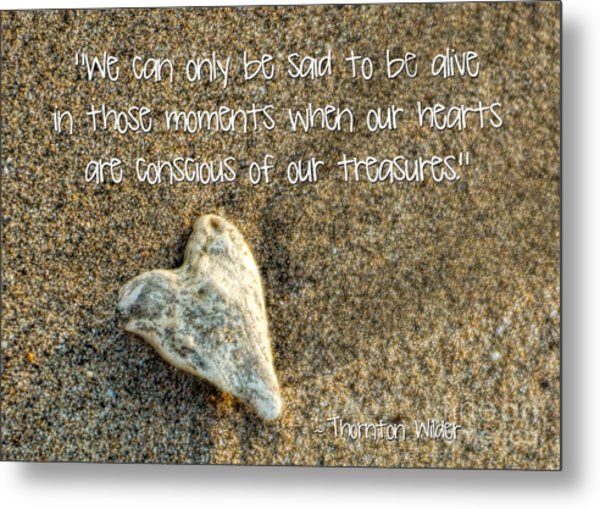 Treasured Heart Metal Print