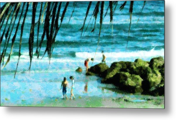 Treasures At The Jetty Metal Print