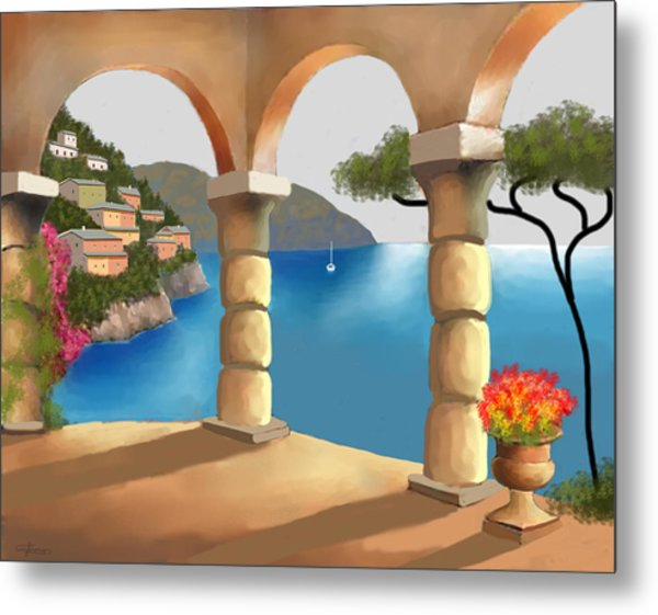 Treasures Of Amalfi Metal Print