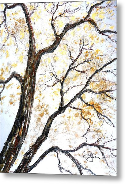 Metal Print featuring the painting Tree by Cristina Stefan