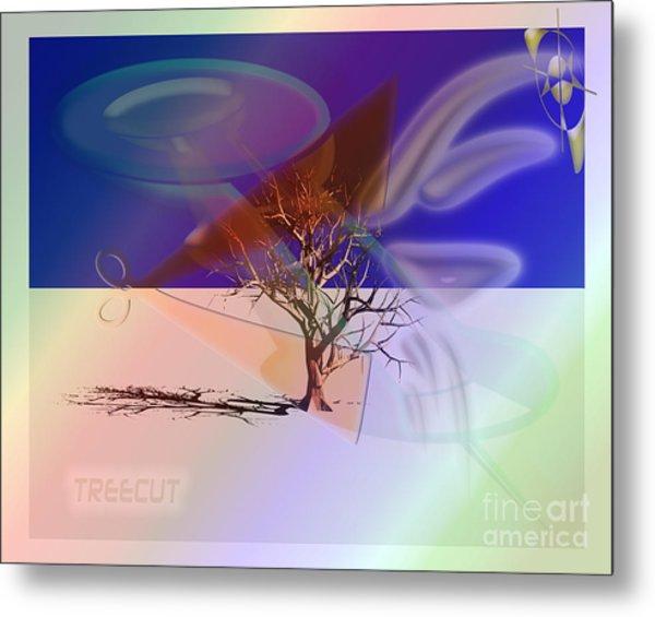Tree Cut Metal Print