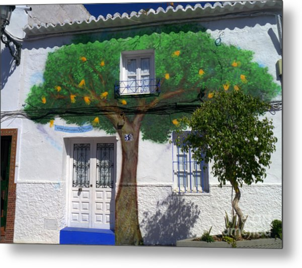 Tree House In Spain Metal Print