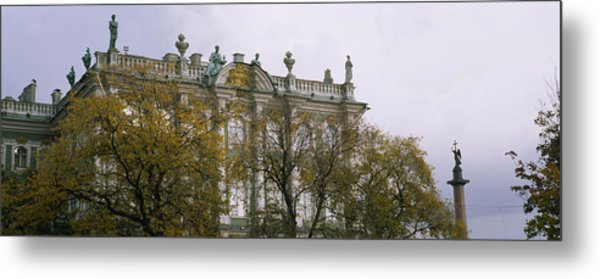 Tree In Front Of A Palace, Winter Metal Print