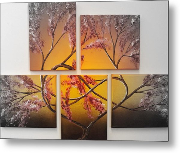 Tree Of Infinite Love Spotlighted Metal Print