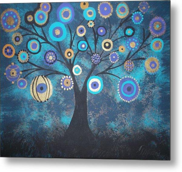 Tree Of Lights Metal Print by Tina Murray