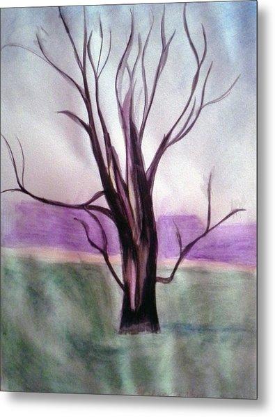 Tree Watercolor Metal Print