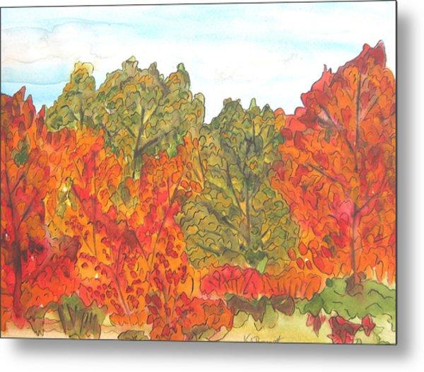 Trees Of Fall Metal Print