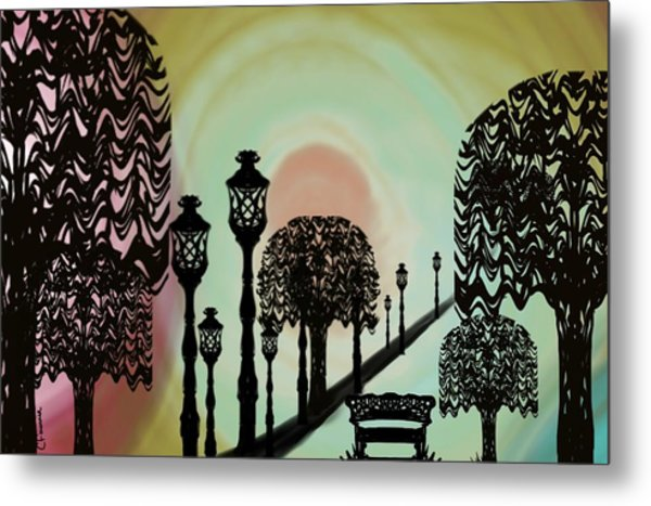 Trees Of Lights Metal Print