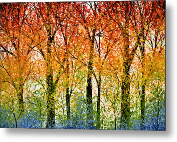 Trees Of The Rainbow Metal Print