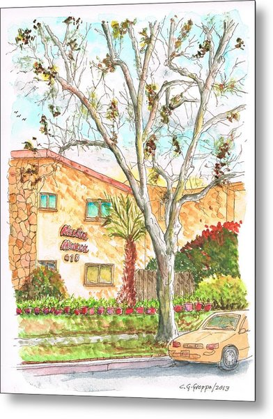 Trees Without Leaves In Hollywood-california Metal Print