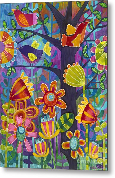 Metal Print featuring the painting Tres Amigos by Carla Bank
