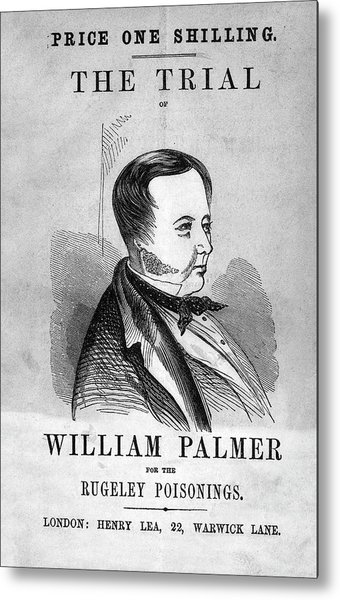Trial Of William Palmer Metal Print by National Library Of Medicine