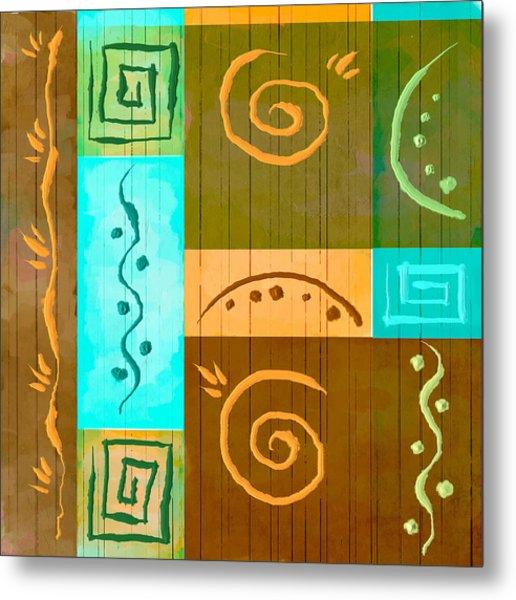 Tribal Abstract Metal Print by Brenda Bryant