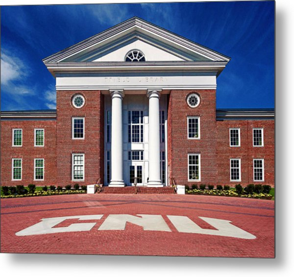 Trible Library Christopher Newport University Metal Print