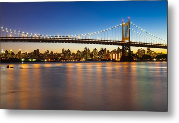 Triborough From Queens Metal Print by Chris Halford