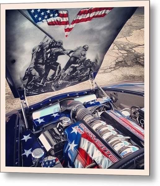 Tribute #corvette To All Veterans #usa Metal Print