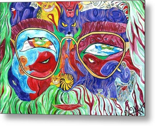 Tribute To Jerry Garcia Metal Print by  Artist Alfredo Dane Llana