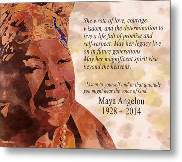Tribute To Maya Angelou Metal Print